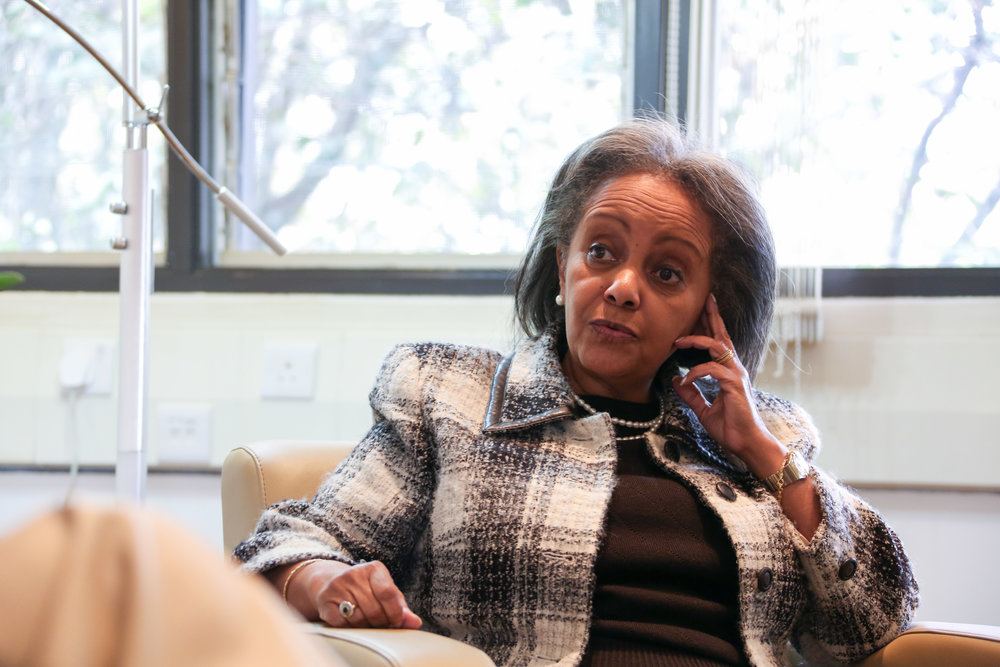 Sahle-Work Zewde was elected as Ethiopia's first female president in 2018. (Wikimedia Commons)