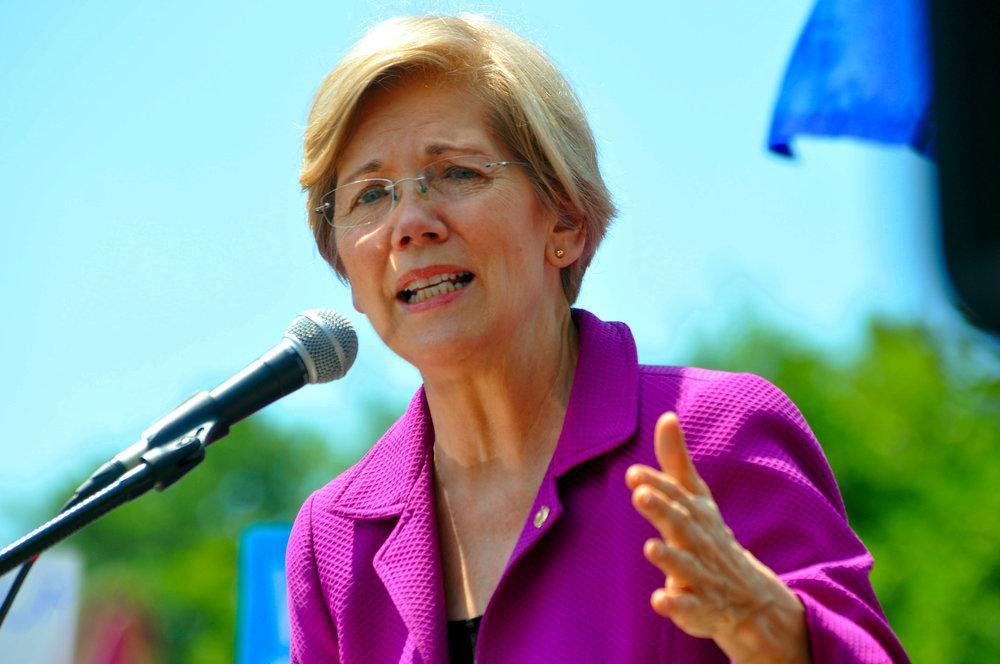 Elizabeth Warren made fighting big tech a part of her 2020 presidential campaign. (Flickr)