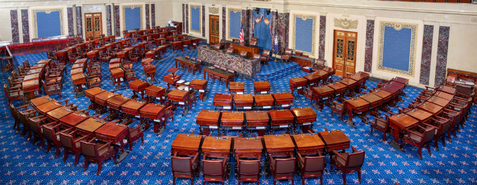 The Senate continues a trend of increasing bipartisan votes to reject the President's declaration of a national emergency. (Wikimedia Commons)