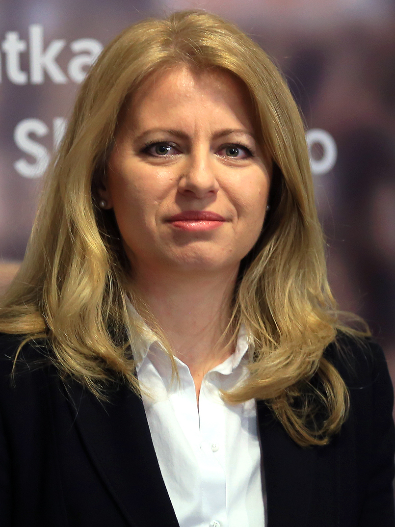 Slovak presidential candidate Zuzana Caputova pictured in February 2019 at a press conference. (Wikimedia Commons)