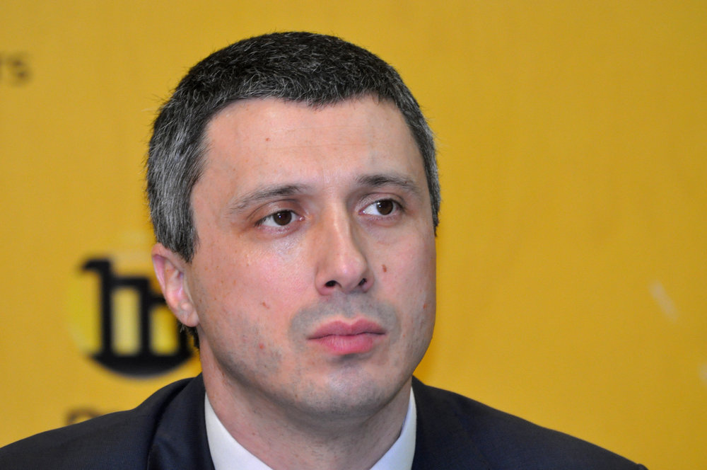 Bosko Obradovic, the leader of Serbia's far-right opposition party, Dveri, pictured in 2015. (Wikimedia Commons)