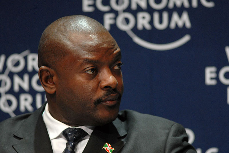 President Pierre Nkurunziza has faced protest since 2015. ( Wikimedia Commons )