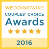 2016 WeddingWire Couple's Choice Award