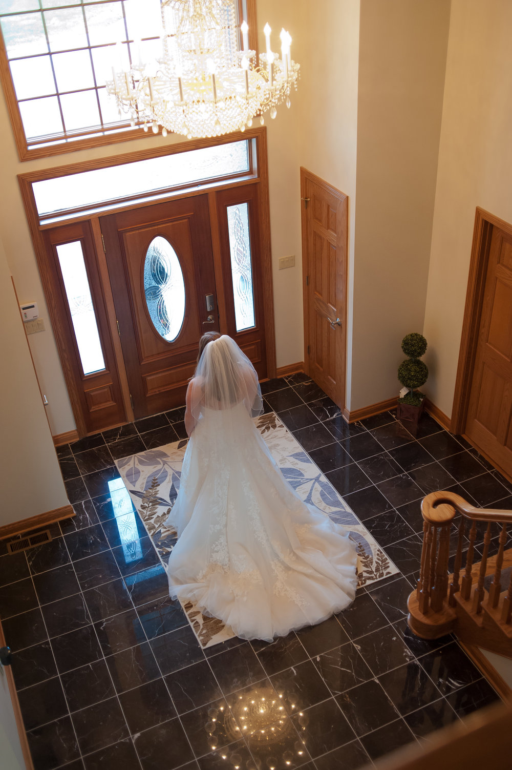 Bride Waiting for First Look