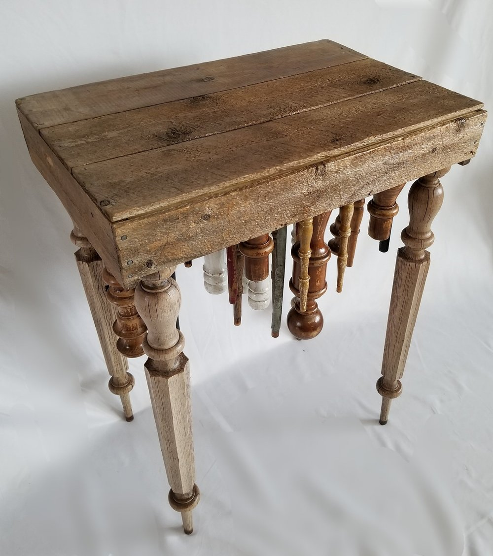 Spindle End Table - Key West II