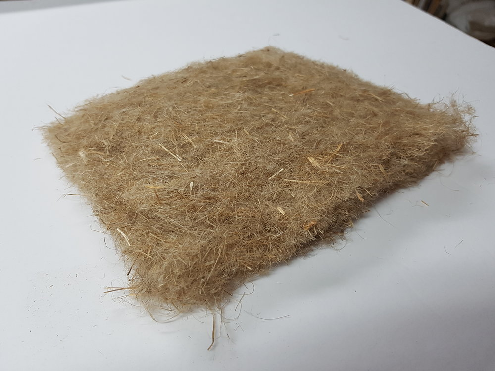 Raw, Saskatchewan grown flax fiber