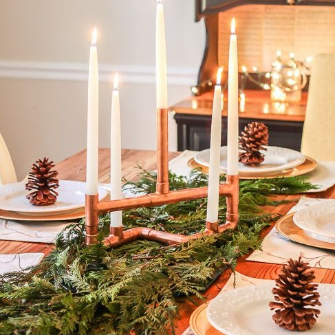 up your table setting game - For your dozens of food photos…a #flawless table design can be as simple as forging for pinecones.