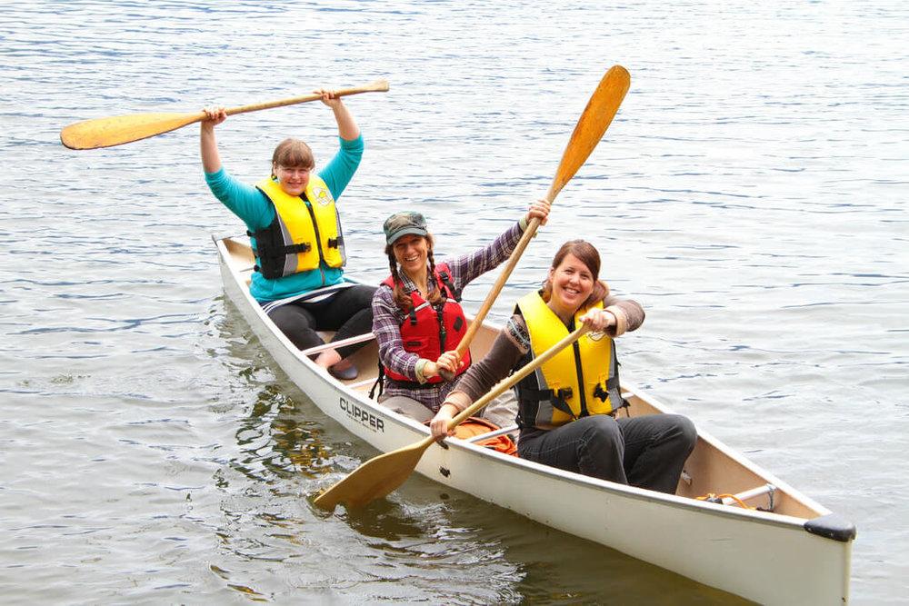 Canoeing around Gambier Island