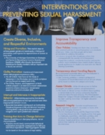 Click  HERE  to download a flyer from the NASEM on Interventions for Preventing Sexual Harassment