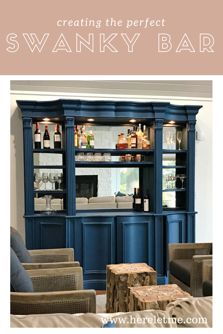 Chalk Painting Hutch to Home Bar