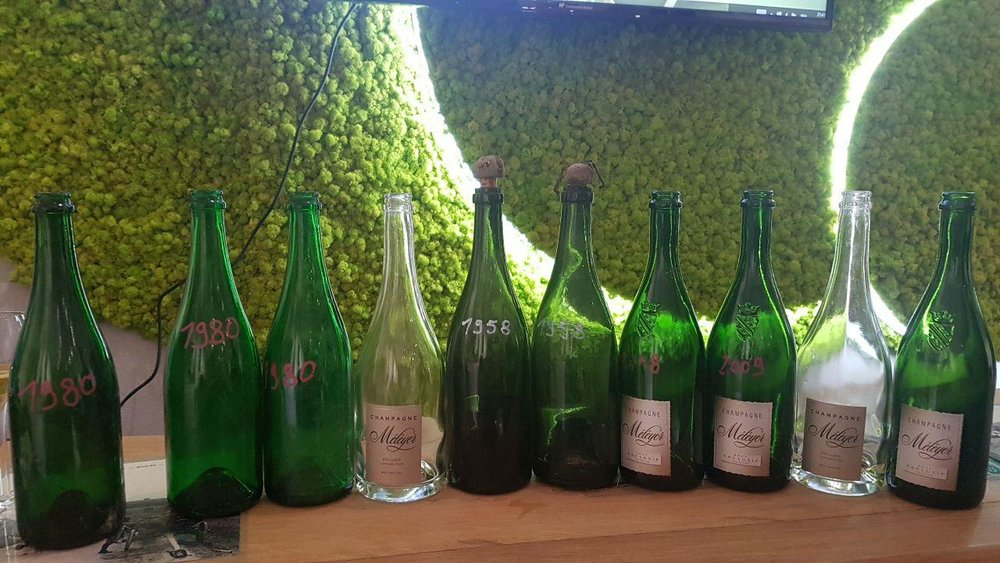 Champagne Meteyer private tasting of old Pinot Meunier   A vertical tasting of vintage Champagnes from Meteyer dating back to 1958.