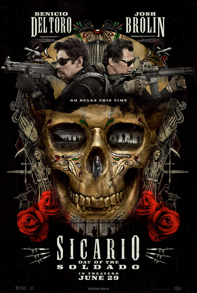 Review of Sicarioby Kathia Woods - Sicario-Day of the Soldado is the follow up to the 2015 Thriller. This time there is no Emily Blunt, but Benicio Del Toro and Josh Brolin are back for another ride. This time out the enemies are the Mexican Cartels who are participating in Human Trafficking. Matt Graves – Josh Brolin calls on operative Alejandro Gillick- Del Toro when terrorist is amongst those trafficked. Kidnapping the child of a Top Kingpin was meant to initiate cooperation but turns into a failed plan leaving the child with a bleak future. The events that follow ignite a wild ride that at times is predictable and often disconnected.We know what the US Government is going to do and how quickly Del Toro's character goes from hero to zero. That's not this movie biggest problem. There is this notion that you can just run through Mexico and ignore that fact that it's a sovereign nation. You can just come across the border in and out with zero consequences. Both Del Toro and Brolin give solid performances however that doesn't assist the struggling storyline and unexplainable ending. If there is going to be a part 3 the writers need to work on telling a complete story.