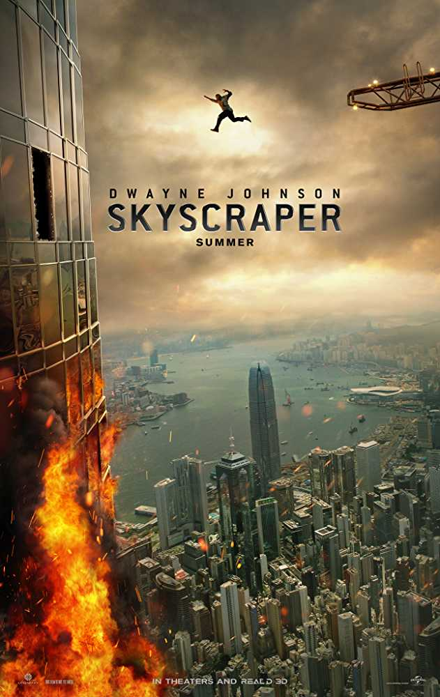 Skyscraperby Kathia Woods - Skyscraper is the latest installment in Dwayne Johnson 's catalog to remain number one in the action genre.The movie commences with Will Sawyer than FBI agent losing his leg during a raid. Will Sawyer Dwayne Johnson's character recuperate from the tragedy and marries the Navy Surgeon that operated on him? They have two adorable children relocate to Hong Kong where he works as a security expert for the latest high rise. It all sounds elegant and fairytale-like, but there is a twist. A hint comes early, why was Sawyer's startup security company hired out of thousands better equipped well it's the old hook up. His former teammate Ben referred him. Will is grateful for the opportunity but fails to recognize that it's a set-up. Let's discuss the positives about the movie. Visually it's stunning. The Pearl, the building all the huff is about indeed looking like the 9th wonder of the world. Everything is sleek, modern and computerized. There's no bad view. Neve Campbell plays Sarah Sawyer Will's wife and it's nice to see her attached to a big budget film like this. The action sequences are breathtaking, and the special effects aren't overused. The Asian Actors converse in Mandarin instead of English when talking amongst themselves and switch quickly to English when speaking with the Anglo Characters. May seem like a small detail but essential seeing that the story takes place in Hong Kong-China. All good things must come to an end. Let's discuss the elephant in the room, Dwayne Johnson, portraying an amputee. One moment he can't run but the next he's leaping buildings. Also, are you supposed to use a mechanical leg to hoist yourself up with or is that for emergency use only. I am a non-disabled critic, and I cringed at the sight of that. It was great to see so many Asians Actors in a movie and not just as bad guys, but as heroes, however, they were grossly underused. I would have liked to see them more involved in getting a handle on things. Was I the only person that felt that Neve Campbell should have been more equipped to kick butt She is a former Navy surgeon that was deployed to the middle east, yet she can't fire a gun or do any hand to hand combat? The whole former friend betrayal scenario was very predictable. Also, we knew immediately who the good guys were and who the bad guys were. The premise was also not a new one seeing we have seen this in a much better version in Die Hard.The whole idea that is lacking with The Rock's movies is that there isn't any character development or real story. We keep coming because we like the persona that's Dwayne Johnson, but he gives us nothing to make us stay. At some point, he's going to have to provide us with a complete movie. Rawson Marshall Thurber must accept responsibility for this horrendous story. He gave us great visuals but forgot to provide us with a story. We all love a good hero, but there is a fine line between movie magic and ridiculous. So on a scale of 1 to 10, it's a five because of the action.As far as diversity it gets a seven because the Asians didn't have much involvement, only one brother, and Neve deserved to have some weapons in her arsenal.