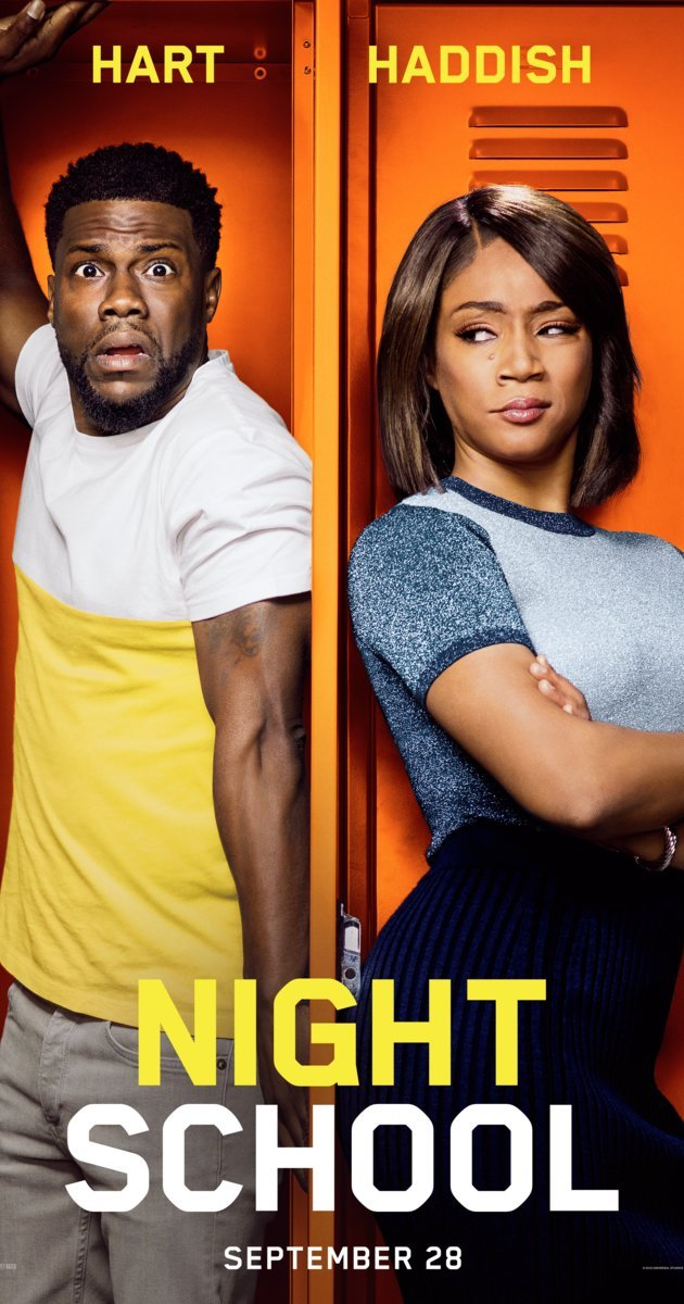 Review of Night School by Kathia Woods - Night School is the latest entry from Kevin Hart as he continues to thrive for comedic dominance. This time his dance partner is Tiffany Haddish. Haddish is coming off a hot year filled with wins including an Emmy win. Overseeing this combination is Will Packer. The same Will Packer that gave Tiffany her big break. One would think that with such a successful team the product would be better; however, it pains me to say that Night School is not that product. Kevin once again is playing