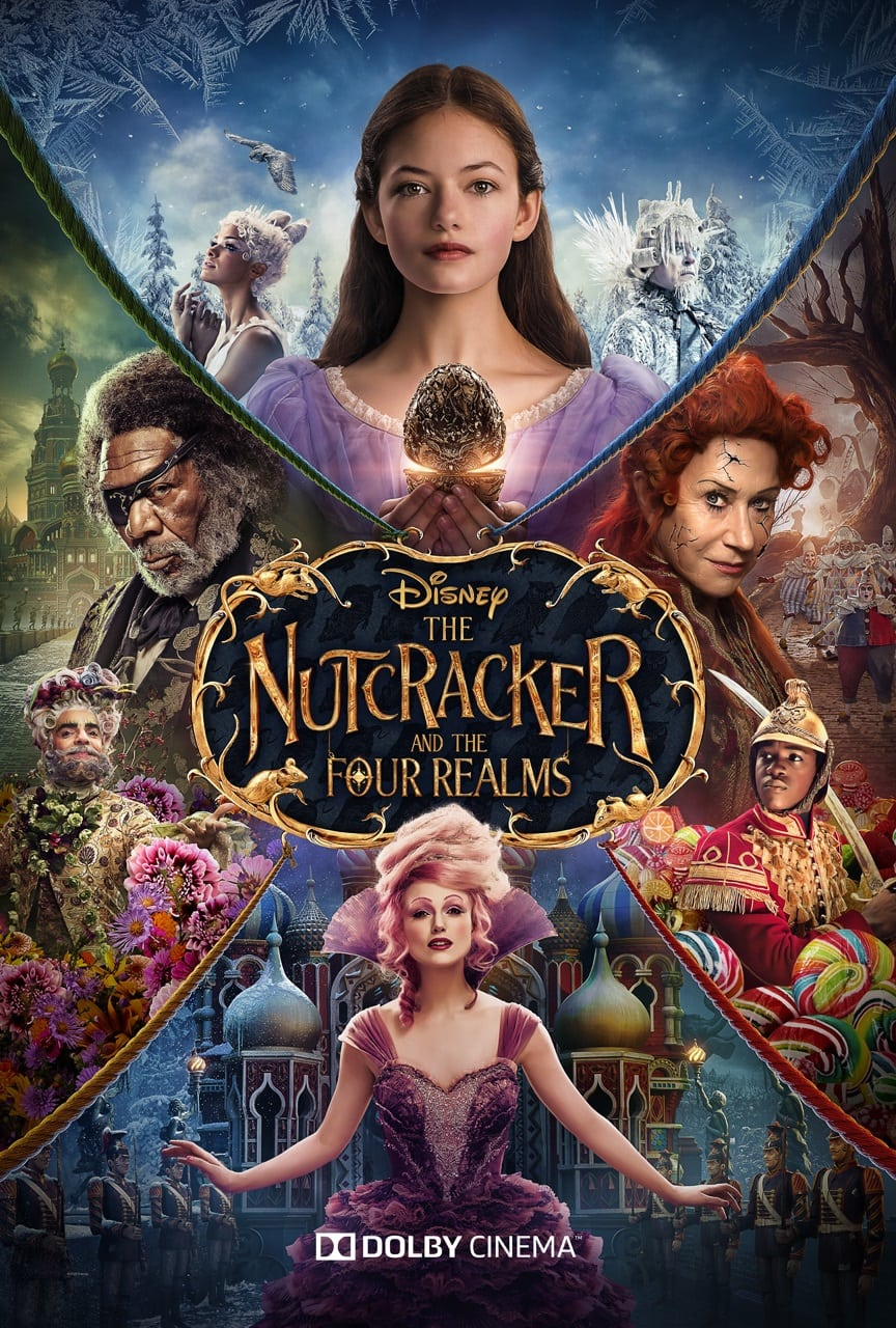 Review of The Nutcracker and the Four Realms - by Kathia WoodsThere have been many retellings of E. T. A. Hoffmann's the Nutcracker this latest one has all the major players but with a new outcome.We still have Clara, the Sugar Plum and of course the Nutcracker.The music of Tchaikovsky's is ever so present but if you're coming to see the version of that is presented to you via your local ballet company brace yourself for significant changes.Our Nutcracker prince is a captain played by newcomer Jayden Fowora-Knight. He's Clara's, right hand man. Jayden is enchanting and everything you want in a hero. Eugenio Derbez as Hawthorne, Jack Whitehall as Harlequin and Omid Djalili as Cavalier provide the comic relief. Mackenzie Foy is a great heroine. The costumes and the alternative universe are mesmerizing. It's Disney after all.The Nutcracker purist receives some ballet in this movie via Misty Copeland and in the end in the pas de deux.The area that needed better development was the villain via Louise aka the Sugar Plum Fairy played by Ellie Bamber. There are also some miscues such as the introduction of Mother Ginger. The Key to viewing this movie is to jump along for the ride. Nutcracker and Four Realms is an excellent holiday distraction for the younger members of your family but entertaining enough for the adults. So take your little ones to see this new twist on a timeless story.Scale- 7 for the stunning visuals.Diversity - it receives an 8. We have a variety of insignificant characters of color as well as age.