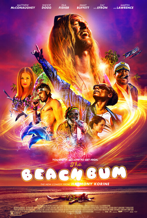 Beach Bum - by Kathia WoodsBeach Bum is a movie about Moondog. He's a staple in Key West where he spends his days getting high, drinking PBR and occasionally writing. He's a poet by profession but dedicates all his time medicated. He has a wife that has a lover and a daughter that settled into marrying a man so dull he makes a Mormon seem exciting.Beach Bum is director Harmony Korine recent attempt to highlight a character that colors outside the lines. If you're familiar with his work, you know that his movie pace can be belaboring such is the case here.Matthew McConaughey playing a Stoner is not a stretch. Those expectations remain low upon viewing this movie.Beach Bum has many issues. The movie boasts an all-star cast but grossly misuses them.The concept for Beach Bum wasn't wrong; its execution is what was troublesome.Moondog eccentric mannerism was only charming for an hour after that it became laboring.Snoop Dog was also misplaced. One would think a movie that features weed as one of the themes and the charisma of Snoop would create magic on screen, but it doesn't. He's a limiting sidekick. One of the most dynamic artists of our time and he's lackluster.Jonah Hill as Lewis Moondog's publicist also isn't very interesting.I get that this movie was about celebrating Key West laid back way of life. The whole idea of tuning out very much exists there lamented among the thousands of tourists but it's not executed well.Zac Efron pops up as a fellow stoner and luckily for him, this performance will hopefully be forgotten seeing that he just turned in a fantastic performance as Ted Bundy.The bright light in this train wreck was Martin Lawrence. Lawrence hasn't made many movies lately. His comedic bone brings much-needed humor to a film that otherwise seemed in slow motion at times.Director Harmony Korine has given us much better work. I understand what he was attempting here, but the bottom line is the movie got stuck in neutral and just became predictable, instead of 
