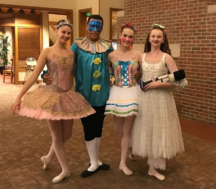 Company Dancers after performing at The Ronald McDonald House in Indianapolis.