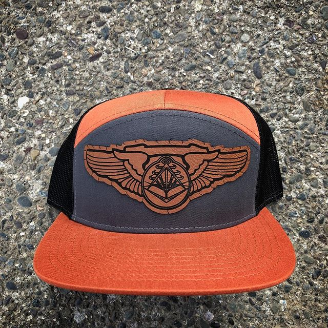 New leather patch temple hats!