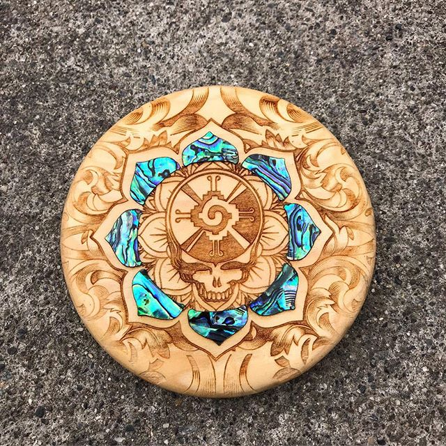 New mini up for auction on facebook. Dollar disc golf group.  #discgolf #pdga #gratefuldead #abalone #woodart #discgolflife #discgolfeveryday