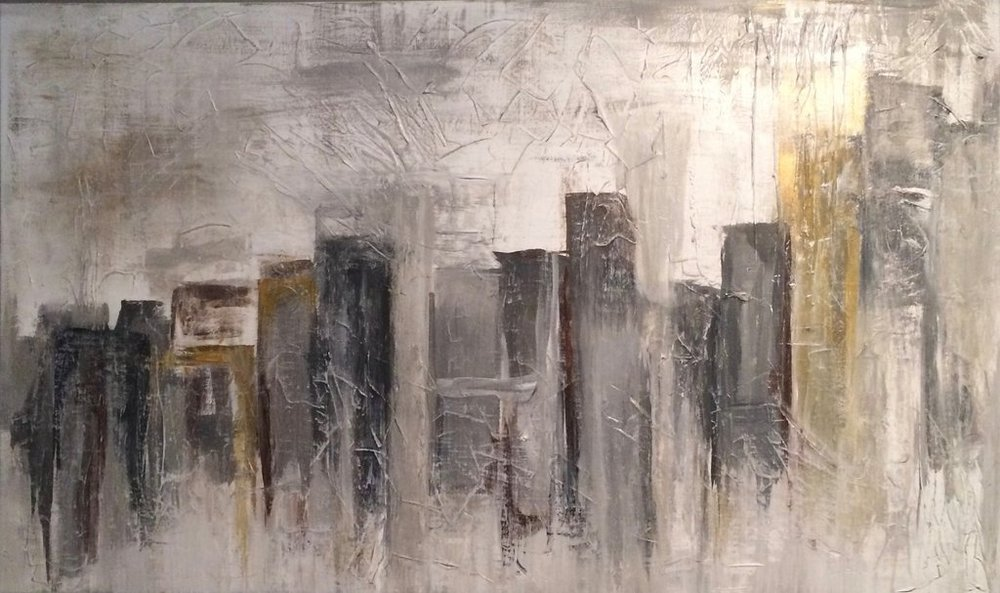"""To The City  36"""" x 60""""  $1198"""