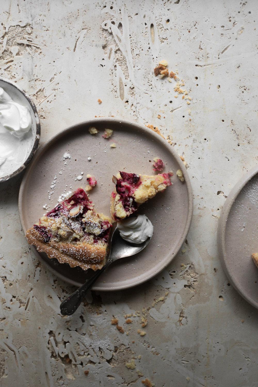 Raspberry Almond Streusel Tart