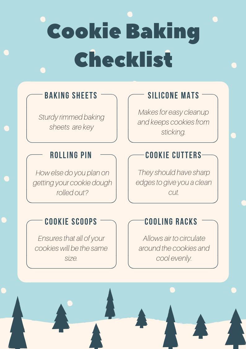 Cookie Baking Checklist