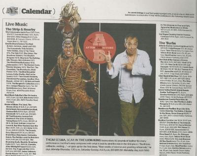 Thom Sesma Lion King Las Vegas Weekly