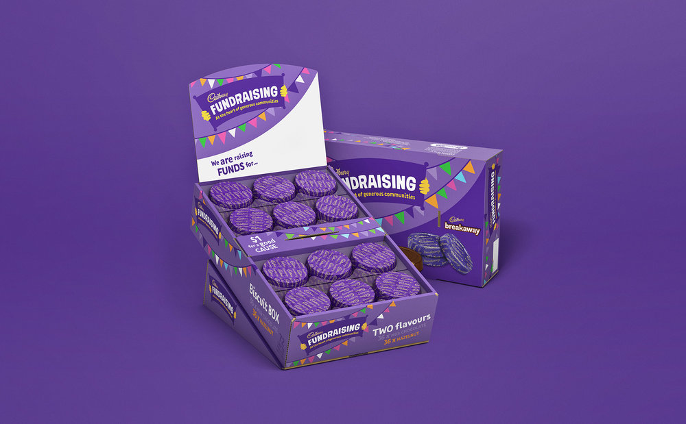 Cadbury Fundraising Box Render