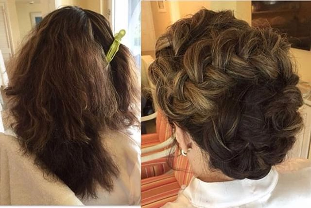 #rp @alinecassandra  We're loving this braided bun updo by one of our partner hairstylists @alinecassandra . Simply amazing transformation!