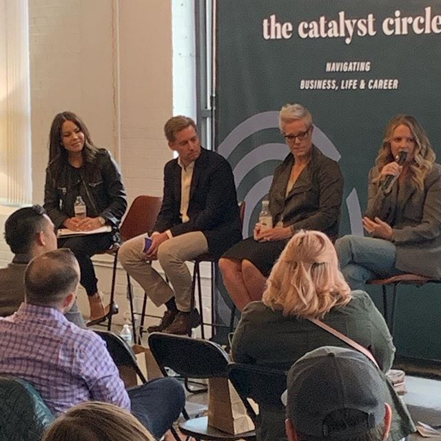 The Catalyst Circle - How I Got Here with our amazing panel. Thank you @cassiemorris13 , @sip andersen & Tim Murphy @branchbasics ! So grateful for @kaydroy and @kristinshane1, amazing partners in TCC!