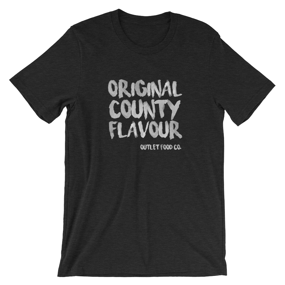 $29 - Original County Flavour on black heather (S, M, L, XL)