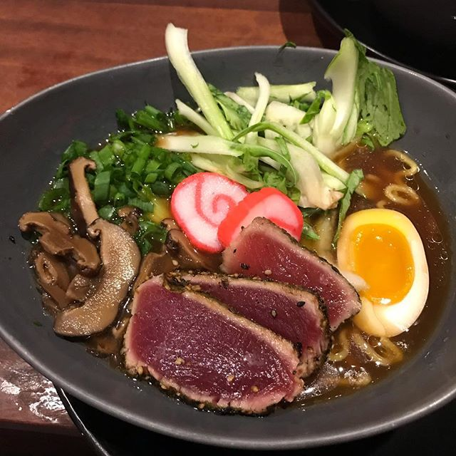 Seared Ahi Ramen. #ramenbtnb