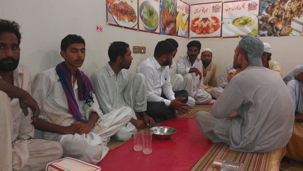A meal with 9others in Karachi