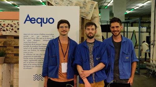 Arthur Lenglin, Tim Defleur and Benjamin Helle, co-founders of Aequo