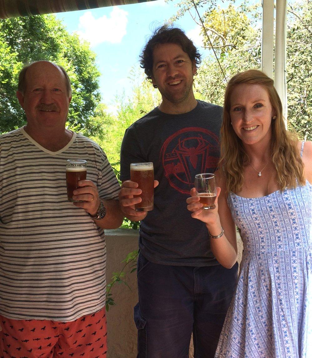 Frigid Isles Brewing team L-R: Mac du Toit, Nico de Bruyn and Kate du Toit.