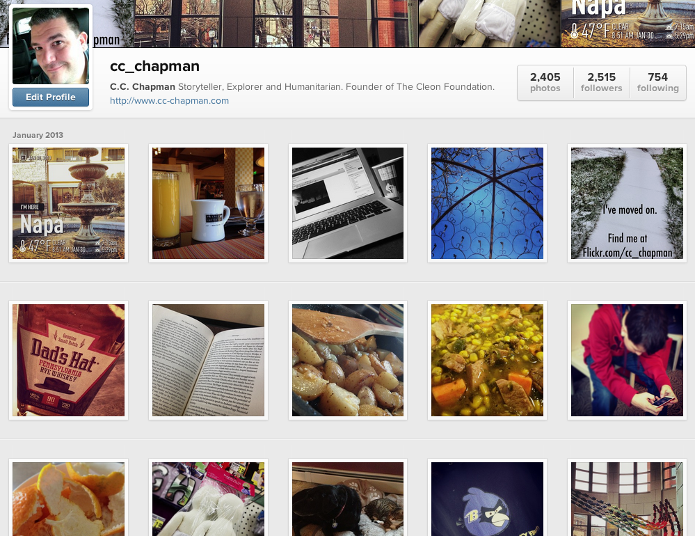 CC Chapman's Instagram