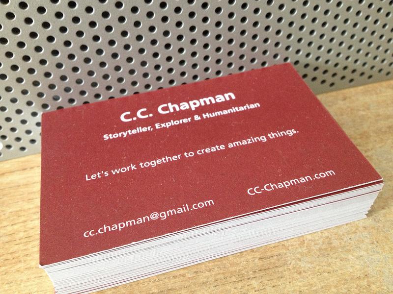 CC Chapman Business Card