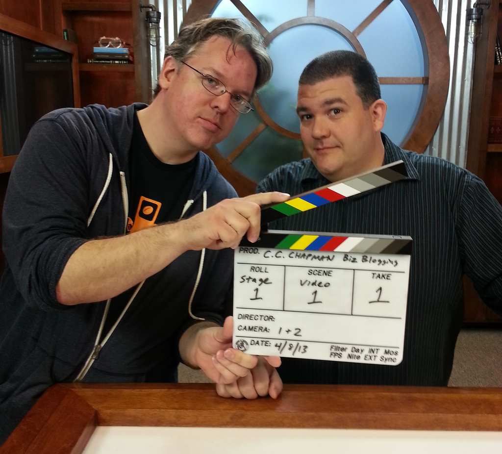 CC Chapman and Dan Gorgone on the set