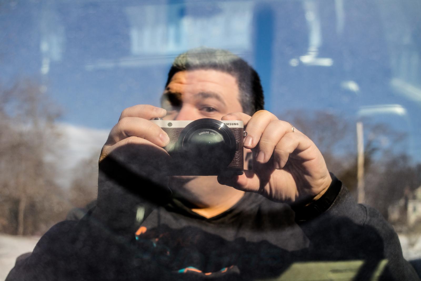 Dirty Window Selfie