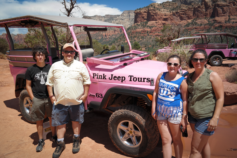 Pink Jeep With The Chapmans
