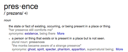 Definition of Presence