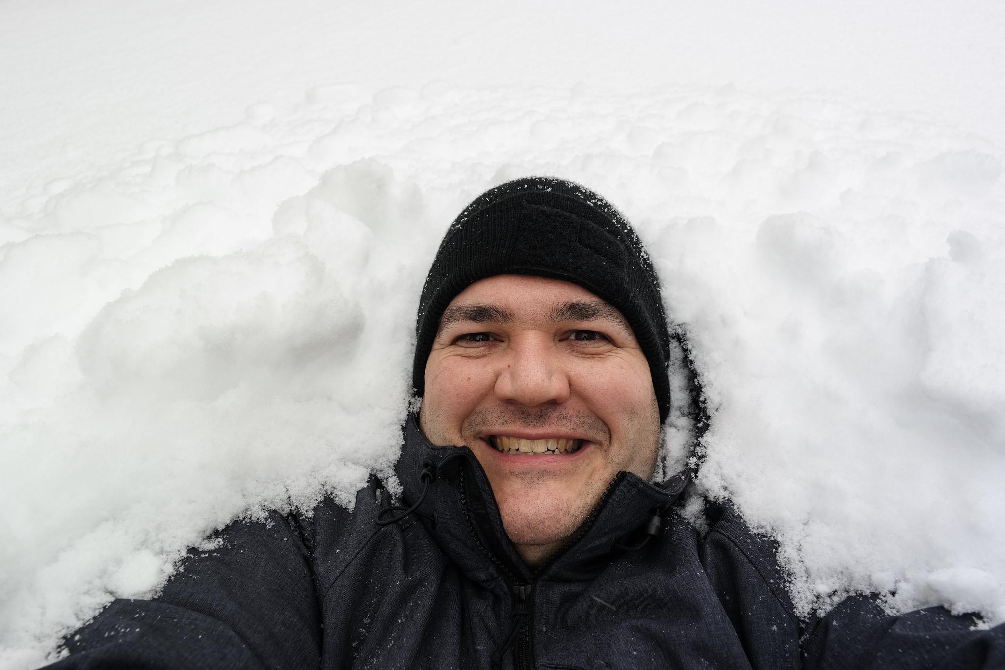 snowy-selfie
