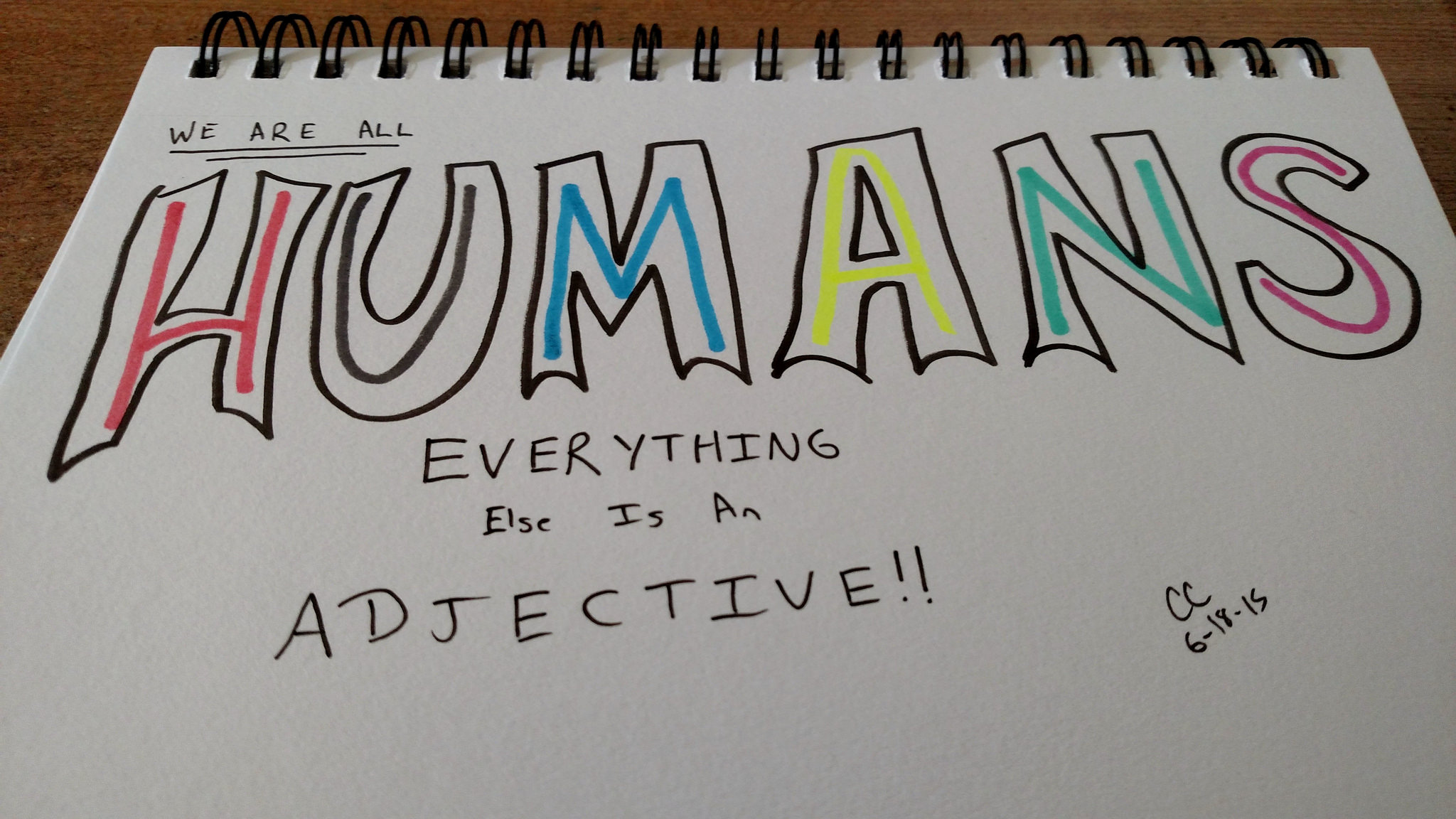 We are all humans. Everything else is an adjective.