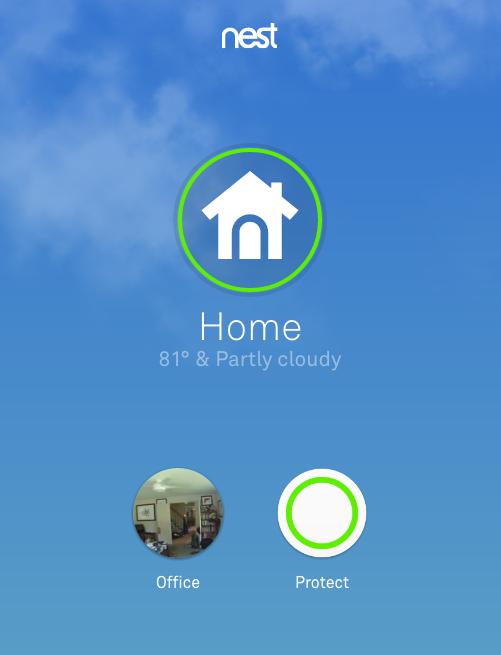 Nest App Screen Shot