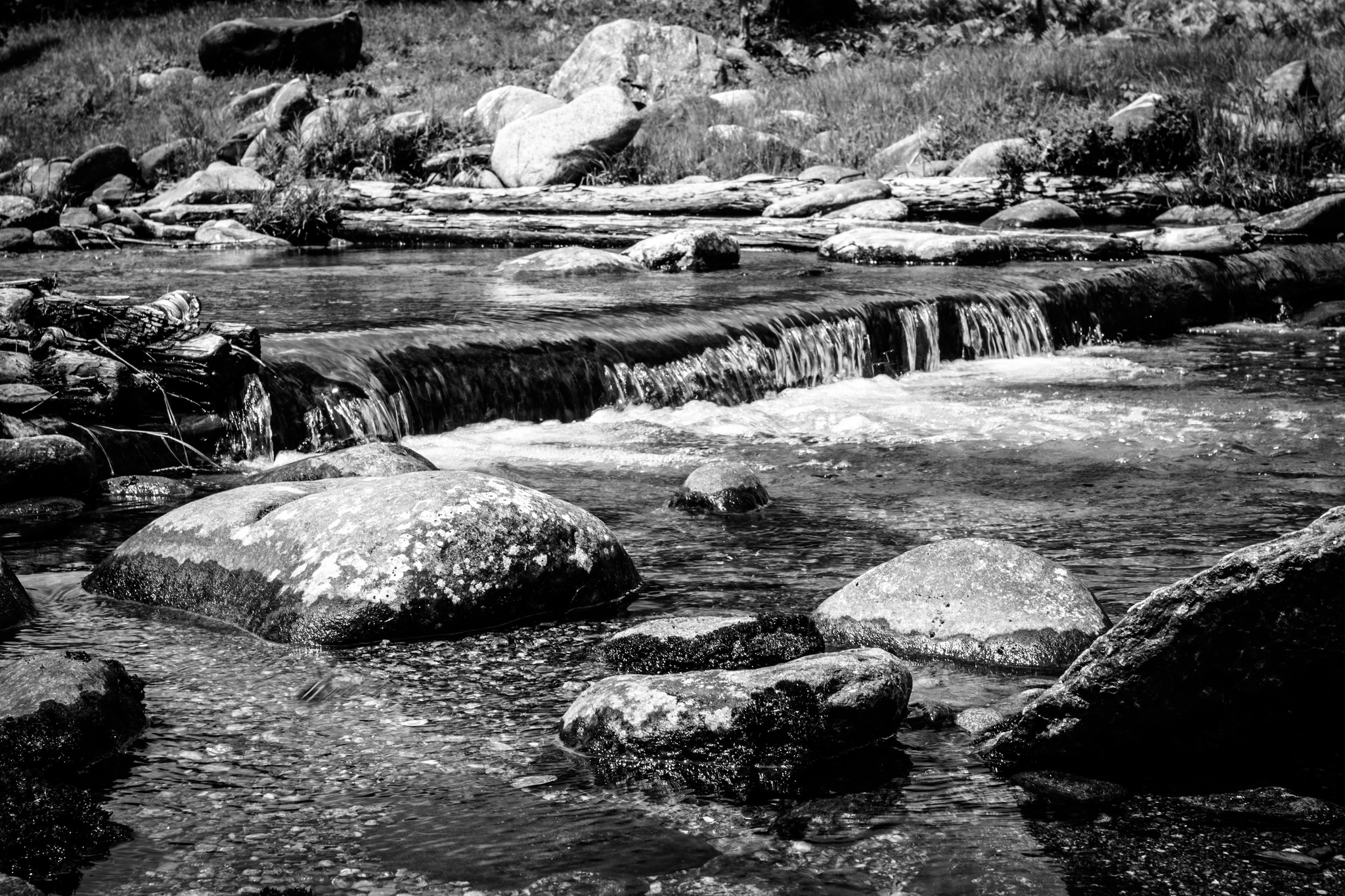 Black and white stream in NH