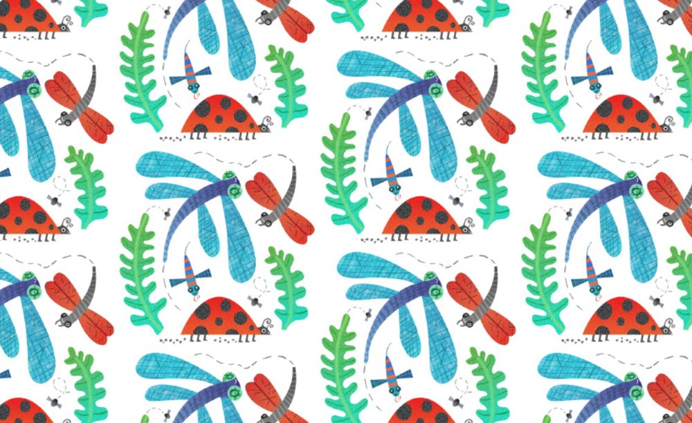Mini beasts pattern
