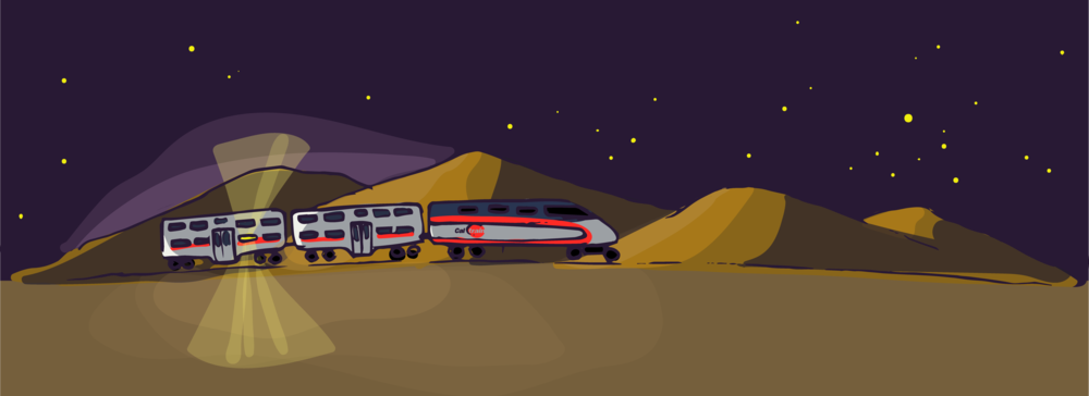 witching hour, the sun riding the cal train, short story by will doenlen