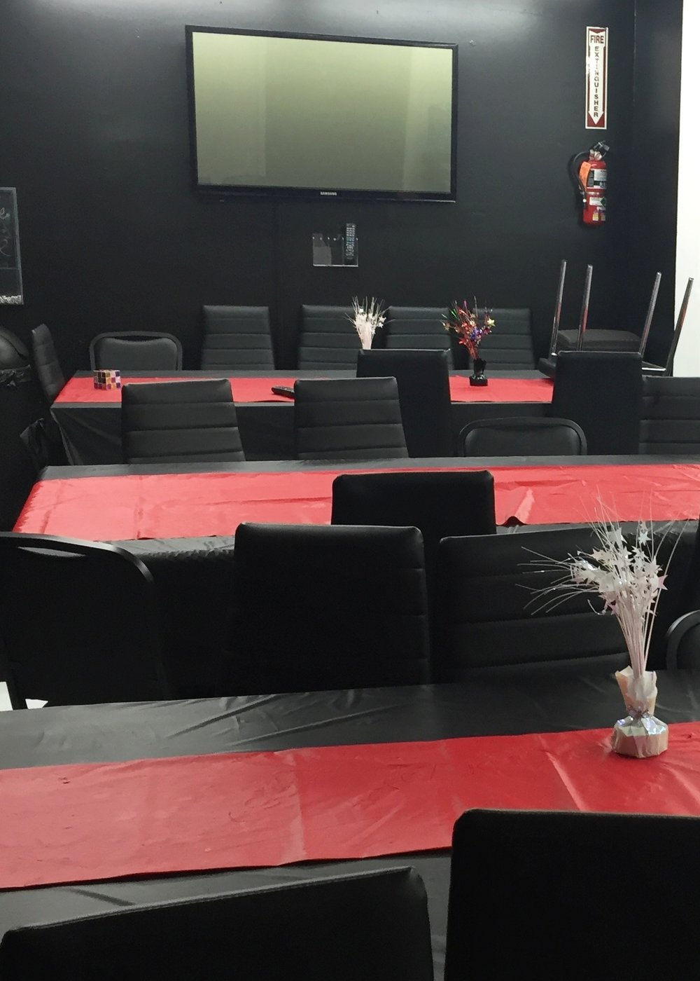 Party Room Rental - The Rockville Escape Room offers a multi-functional party room, with seating for 40. The cost for the room is $75* an hour and it includes tableware and cleaning.Ask about group discounts for large events!*Full deposit required to make reservation.