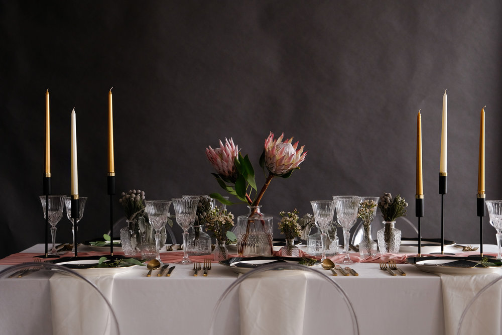 Gray Sage Tablescape