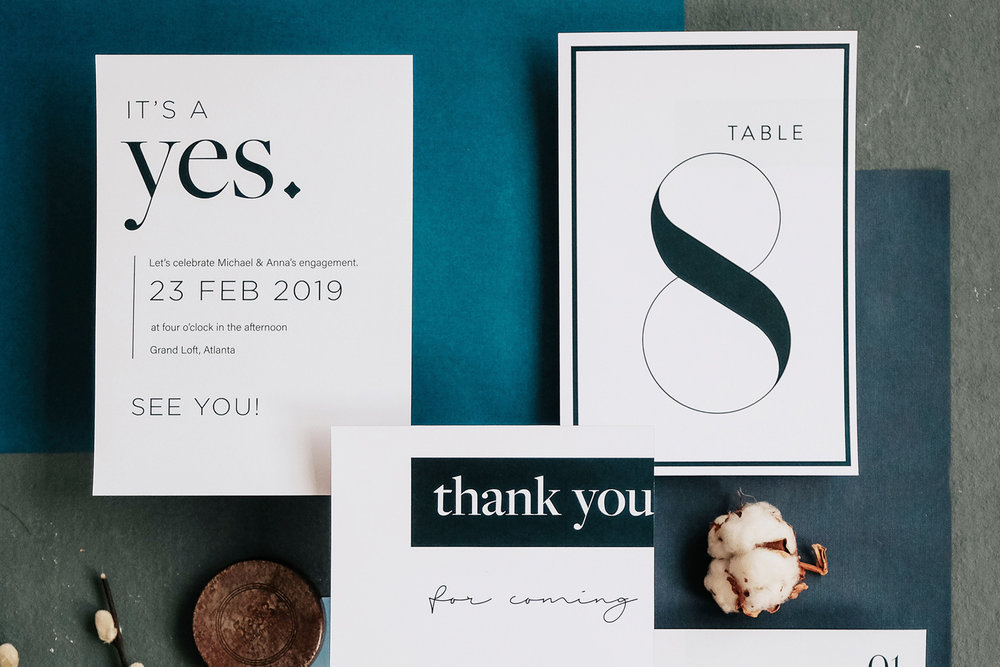 Modern Invitation Design Atlant
